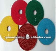 5-Step polishing pad for granite , fast granite polishing pad