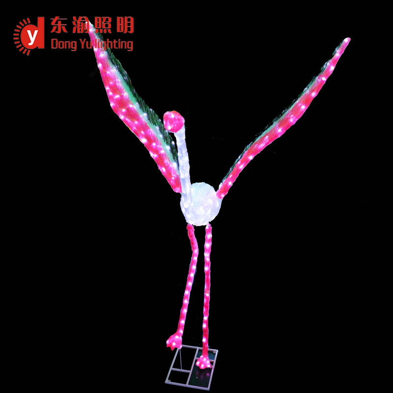 DY-MT-SR070 led motif light 3d ABS flamingos