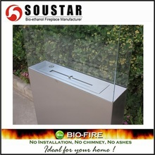 A3-SS freestanding fuel burning cast iron outdoor fireplace of SOUSTAR