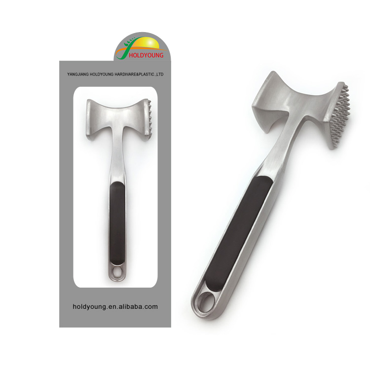 Useful metal meat tenderizer hammer which perfect for beef,poultry&pork