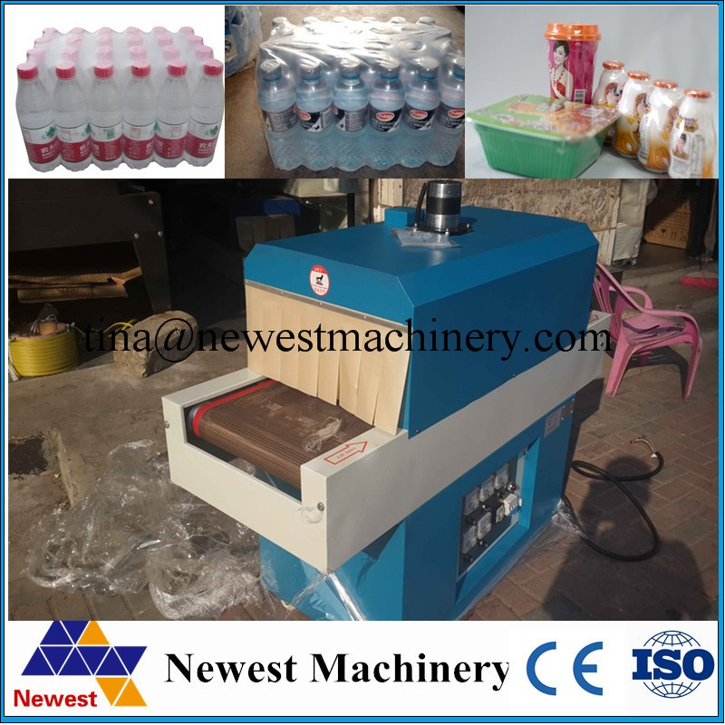 New design 2017 box shrink wrapping machine/pof film shrink wrapping machine/automatic shrinking machine