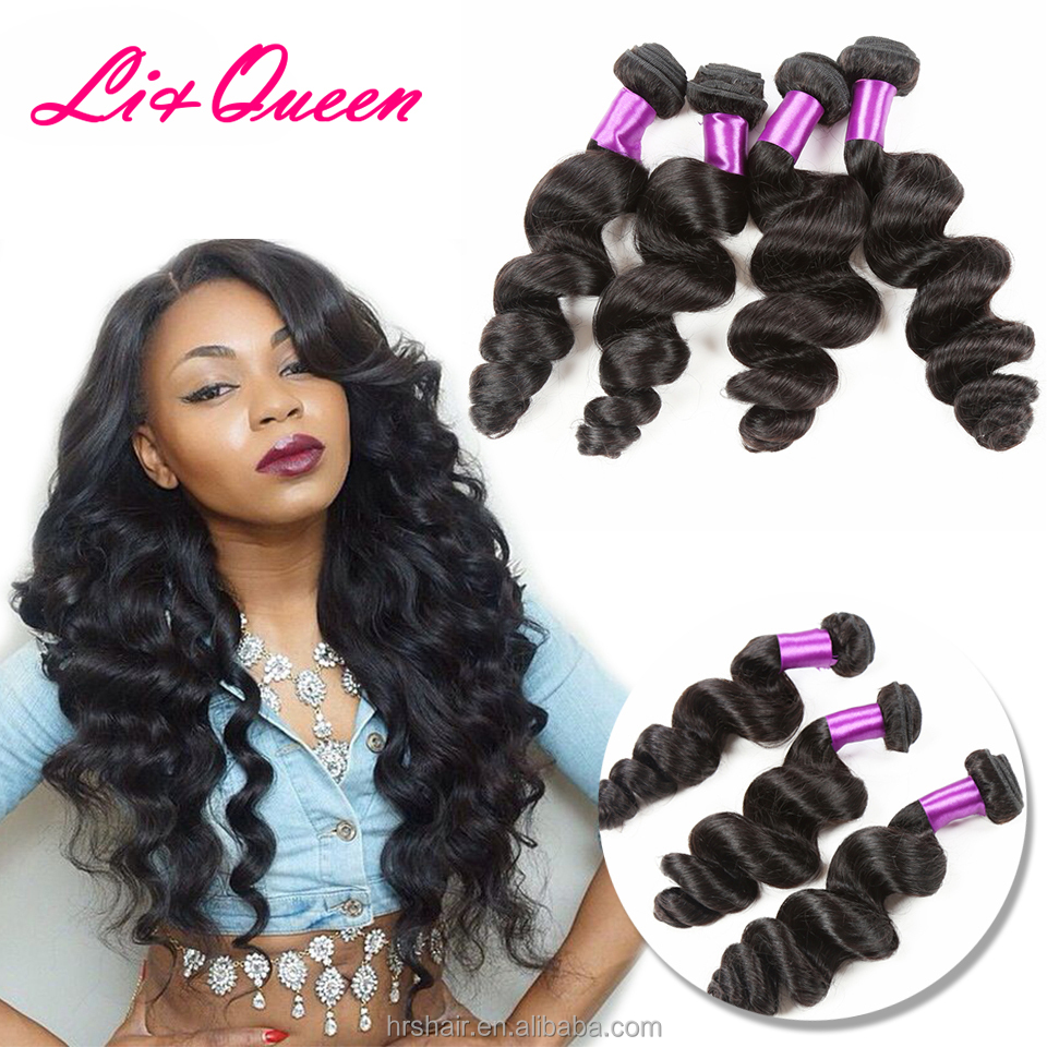 Liqueen loose wave 100% peruvian virgin hair extension human,100% raw unprocessed virgin peruvian hair