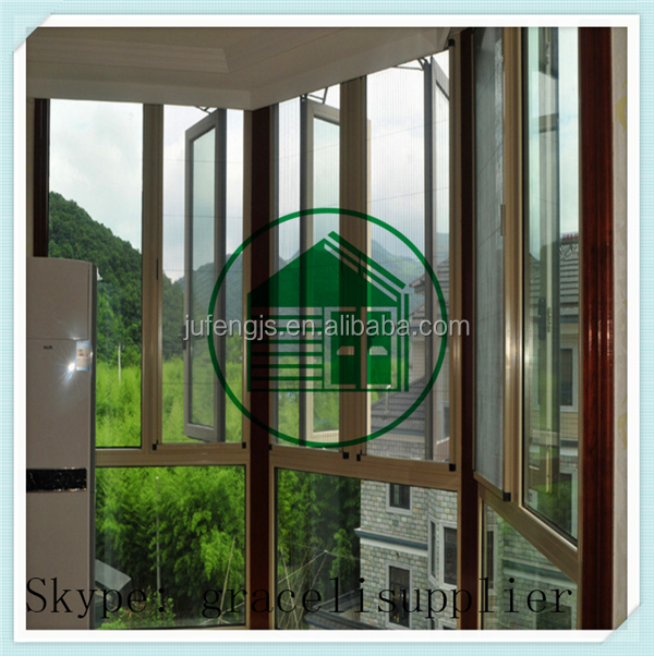 Anti bug durable Plisse insect screen window