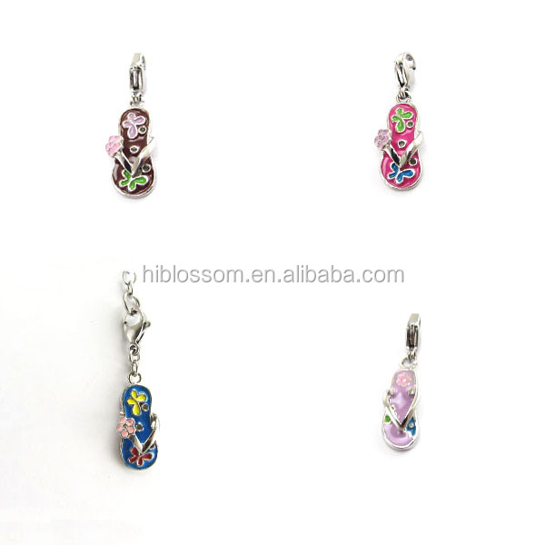 316 fashion colorful stainless steel small shoe charm for gift
