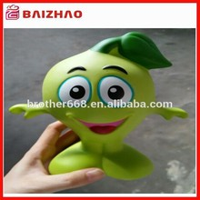Promotional big size vinyl coin bank, custom vinyl figure toy, cute cartoon plastic coin bank
