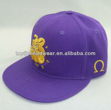 Purple acrylic fitted cap and headwear and fashion hat