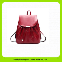 15586 Wholesale fashion promotional custom women leather school backpack outdoor bag