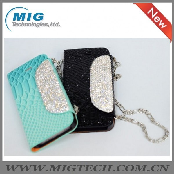 Diamond Bling handbag Wallet Case for samsung galaxy s4