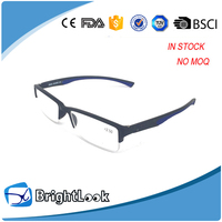 From china wholesale soft material No MOQ half rimless fancy men eye glasses frame