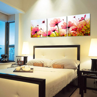 TA-0015 Lowest Price Most Popular Home Decoration design 3d wall painting sweet flowers no frame Mofang