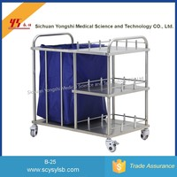 Stainless Steel Hospital Dirt Rubbish Collection Laundry Trolley