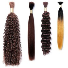 Kinky curly style wet and wavy virgin malaysian hair,no shed no tangle human hair bulk with crochet braids