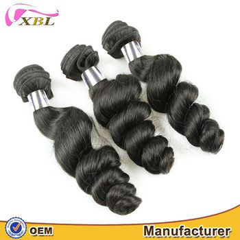 XBL Hair extensions manufacturer Brazilian romance Curl hair weft