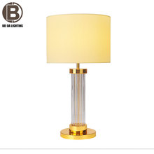 Modern table lamp White Globe 1-Light Creative Brass table lamps Bedside Night Lights
