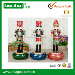 32cm wooden nutcracker music box birthday honey music box gift