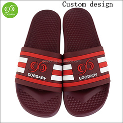 Custom design pvc upper open toe flip flop thick pu outsole soft spa slippers