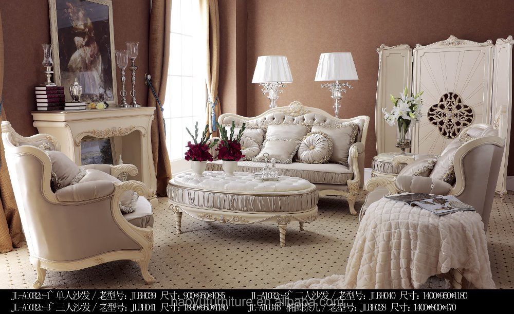 Rose flower wooden living room sofa RS-003#