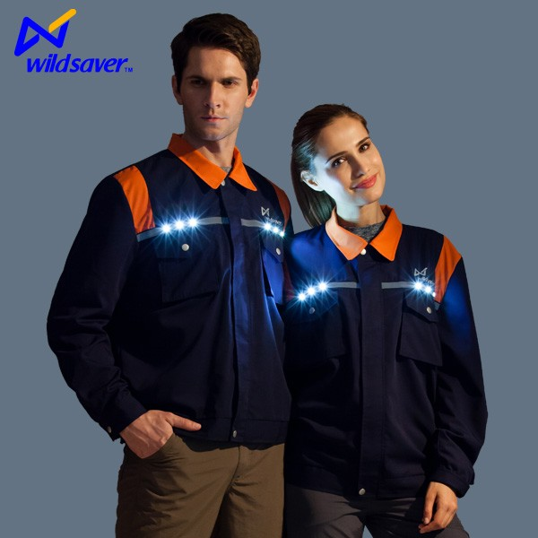 Alibaba Hi vis LED flashing winter wear work suit