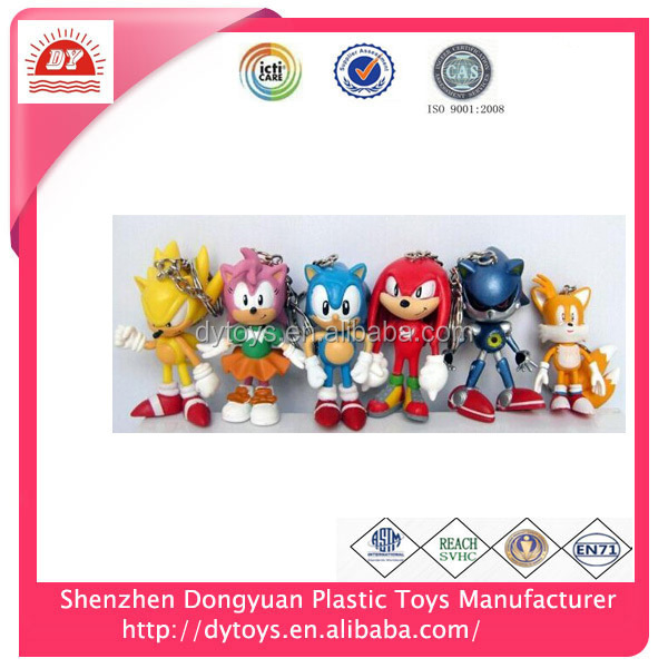 ICTI certificated make custom soft pvc anime keychain maker