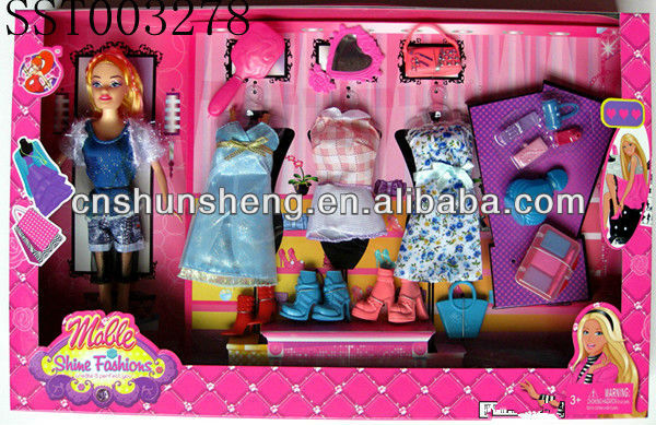 Dressing Doll Set Toys Fashion Doll With Accessories Real Plastic Sex Doll Girl Toy