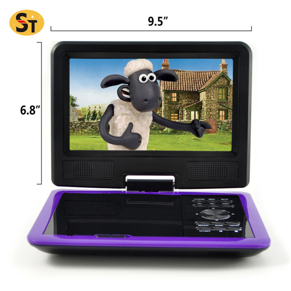 China factory 9.8 Inches MTK Solution portable dvd player with digital tv tuner