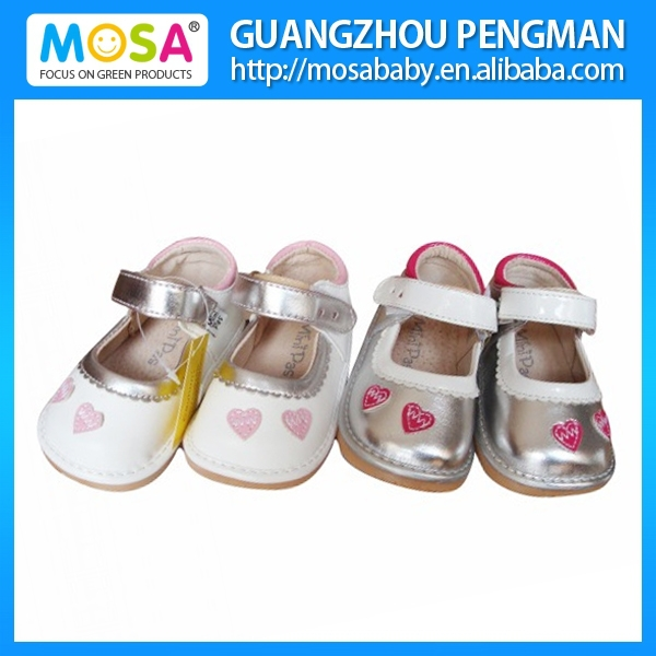 Cute Toddler Girl Leather Squeaky Outdoor Shoes Wholesale