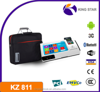 Android pos with emv 3G,WIFI thermal printer/barcode reader/Bluetooth/NFC Magcard Smart card