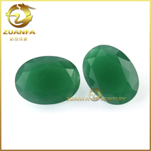 hot sale machine cut large oval shape synthetic jade glass gemstone