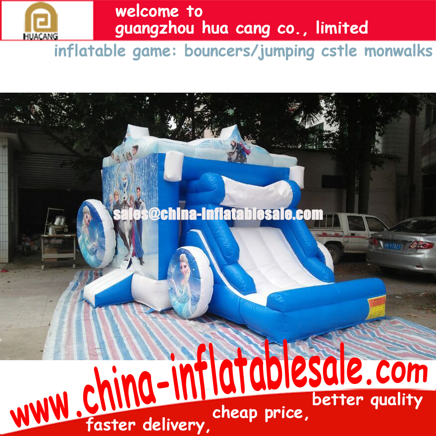 2016 HC cheap price promotional Inflatable games toys with slide and multi themed nice beauty printing painting bouncers, jumper
