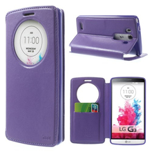 Simple Leather Flip Magnetic Case Window Smart Cover For LG G3 D850 855