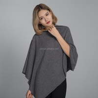 Factory price knitted plain Women cashmere cloak