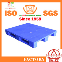 Steel Reinforced Plastic Pallet with two sides made by virgin HDPE or PP color blue or customized