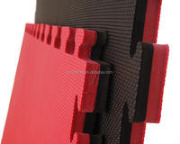 Factory whole sale good quality no holes red/black eva mat for judo taekwondo akido 20mm 25mm 30mm 40mm