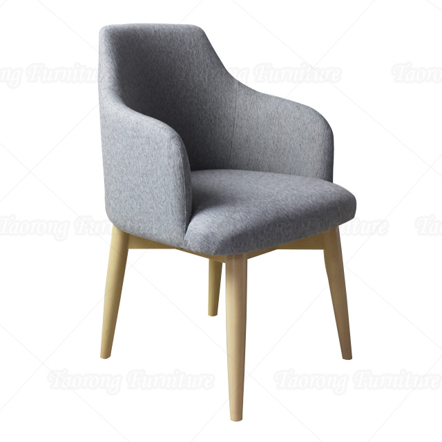 Wooden frame dining chair with arm CH-464