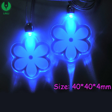 Led Glowing Little Star Cross Heart Star Butterfly Led Necklace, Event Supplies Blue Light Led Christmas Snowflake Necklace