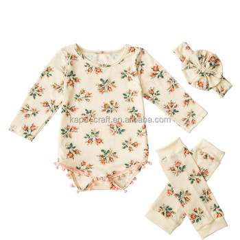 2017 Baby Clothes baby romper girl spring set boutique girl clothes new design elegence lovely