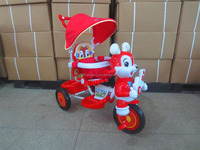 CE standard smart baby trike with lighting head New cheap children tricycle with music hot sale baby tricycle with canopy