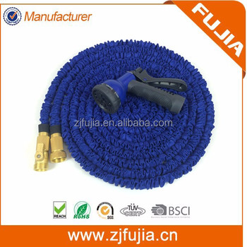 Magic expandable hose with brass fittings brass fitting non kink hose as seen on tv