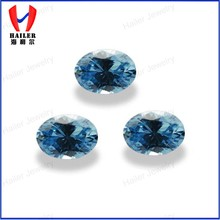 6x4mm perfeita cut loose aquamarine cz pedra