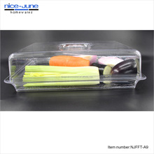 Vegetable Serving Acrylic Dividers Rectangle Tray