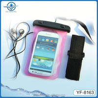 China manufacturer Eco-friendly pvc material waterproof cellphone bag with earphone for Iphone 5s