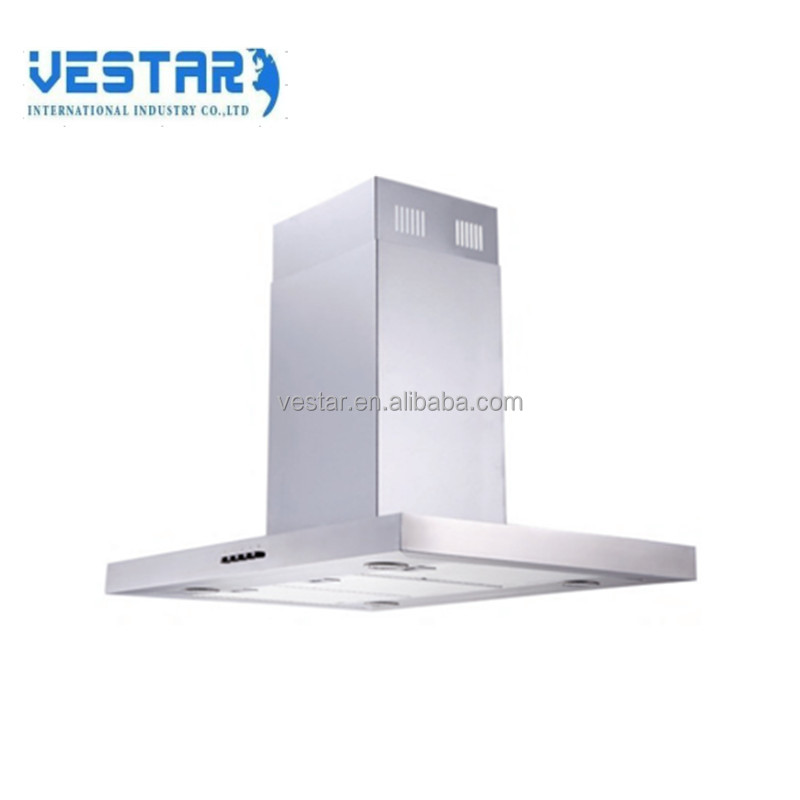 Canton fair best selling product Island range hood with LED light