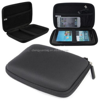 Black Shockproof Eva Hard Case And Black & Mini USB In Car Cigarette Charger For Tomtom