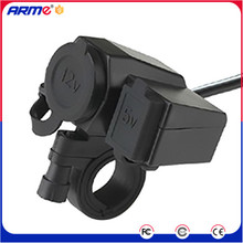 Waterproof Motorcycle Dual USB Power Charger Cigarette Lighter Plug Adapter Socket Splitter Outlet Dual Boat USB Charger