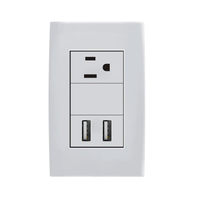 PC Plate 1 gang multi us electrical usb wall socket