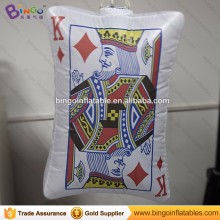 Casino decoration Inflatable playing cards replica inflatable poker model for sale