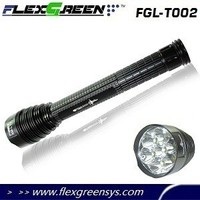Flexgreen rechargeable 7 T6 6000 lumens led flashlight