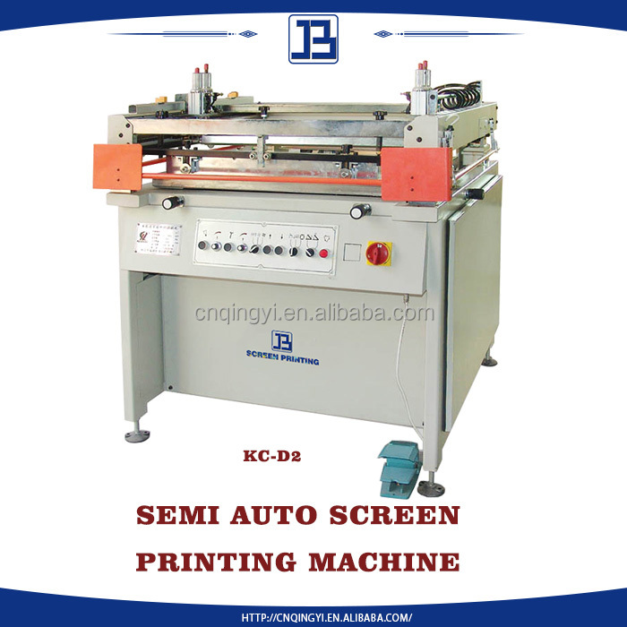 Jiabao best quality semi-automaticsilk screen printing machine manual