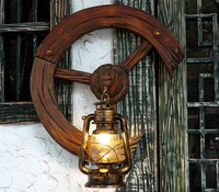 Electric vintage edison bulb antique brass wall sconce