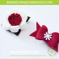 Exquisite fashion big red flower hair clips ,christmas hair clip ,holiday hair clip ZZFA045